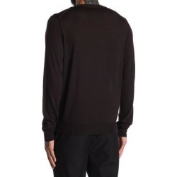 Solid Wool Long Sleeve Sweater - Black - Corneliani Knitwear found on MODAPINS from lyst.com for USD $125.00