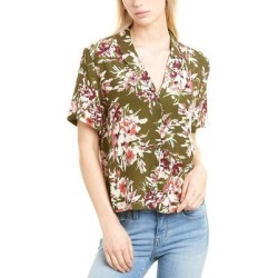 French Connection Floriana Camp Shirt (12), Women's, Green(viscose) found on MODAPINS from Overstock for USD $48.29