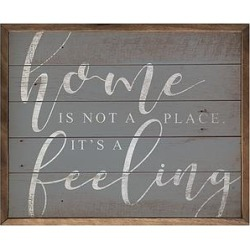 Kendrick Home Framed Wall Art - Blue 'Home Is Not a Place' Wood Wall Sign