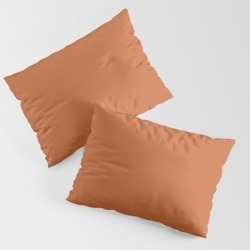 Burnt Orange King Size Pillow Sham by Sara Valor - STANDARD SET OF 2 - Cotton found on Bargain Bro from Society6 for USD $30.39