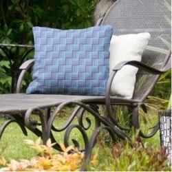Rockport Color Contrast Basketweave Indoor/Outdoor Pillow by Havenside Home (16 x 16 - Purple & Teal - UV Resistant), Multicolor(Synthetic Fiber, found on Bargain Bro Philippines from Overstock for $56.49