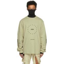 Khaki Veteran Stars Long Sleeve T-shirt - Green - Hood By Air T-Shirts found on Bargain Bro from lyst.com for USD $148.20
