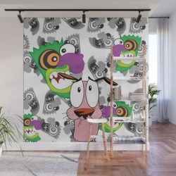 Wall Mural   Ooga Booga Courage The Cowardly Dog by Nefariousbear - 8' X 8' - Society6 found on Bargain Bro from Society6 for USD $182.39