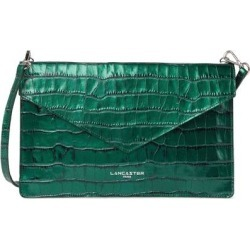 Exotic Croc Embossed Leather Crossbody Bag - Green - Lancaster Shoulder Bags found on MODAPINS from lyst.com for USD $55.00