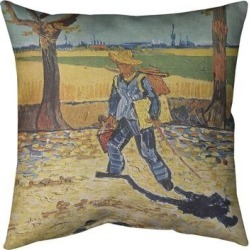 Porch & Den Vincent Van Gogh 'Self Portrait' Throw Pillow found on Bargain Bro from Overstock for USD $44.11