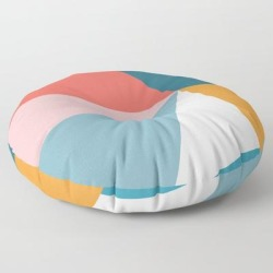 Floor Pillow | Modern Geometric 34 by The Old Art Studio - ROUND - 30