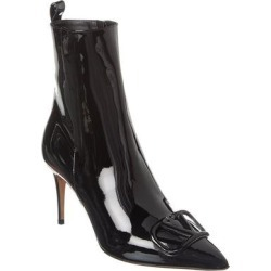 Valentino Vlogo 80 Patent Bootie (39), Women's, Black(leather) found on Bargain Bro Philippines from Overstock for $934.99