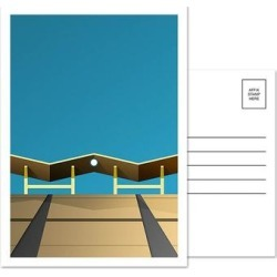 Los Angeles Dodgers Dodger Stadium Outfield Pavilion 5-Pack Minimalist Postcard Set found on Bargain Bro from Fanatics for USD $11.39