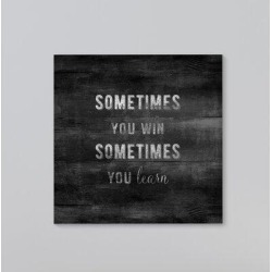 Gracie Oaks 'Sometimes You Win' Graphic Art Print on Wrapped Canvas Canvas & Fabric in Black/Brown, Size 8.0 H x 10.0 W x 1.3 D in   Wayfair found on Bargain Bro Philippines from Wayfair for $39.99
