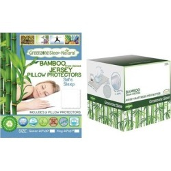 Viscose from Bamboo Mattress Protector with Pillow Protectors (Twin with Queen Pillow Protectors), Green, DreamTex found on Bargain Bro from Overstock for USD $40.35