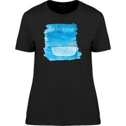 Girl Takes A Relaxing Bath Tee Women's -Image by Shutterstock (White - M)(cotton, Graphic) found on Bargain Bro Philippines from Overstock for $13.99