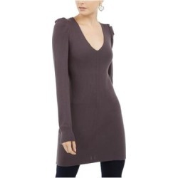 INC Womens Gray Long Sleeve V Neck Above The Knee Shift Dress Size L (Gray - L), Women's(Rayon, Solid) found on Bargain Bro India from Overstock for $17.98