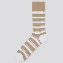 UNIQLO Men's Striped Socks, Beige, 10-13 found on Bargain Bro India from Uniqlo for $4.90