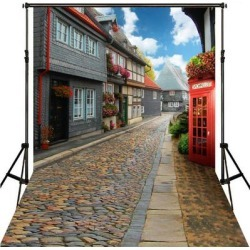 Photography Backdrop Studio Photo Prop 5' x 7' Street View - 5' x 7' found on Bargain Bro Philippines from Overstock for $37.99