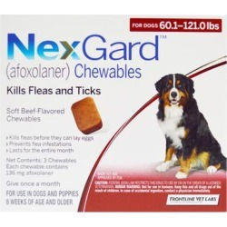 Nexgard For Extra Large Dogs 60.1-120 Lbs (Red) 136mg 3 Chews found on Bargain Bro Philippines from Canadapetcare.com for $44.87