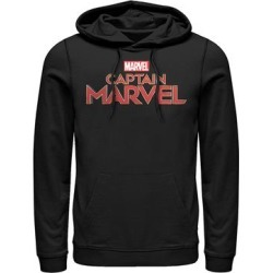 Fifth Sun Men's Sweatshirts and Hoodies BLACK - Captain Marvel Black Logo Hoodie - Men found on Bargain Bro from zulily.com for USD $28.87