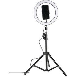 LAX Gadgets Black - Black Selfie Ring LED Light Tripod Stand found on Bargain Bro from zulily.com for USD $18.99