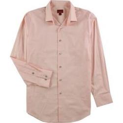 Alfani Mens Stretch Button Up Dress Shirt (Orange - 14