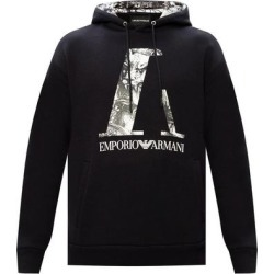 Printed Hoodie Black - Black - Emporio Armani Sweats found on MODAPINS from lyst.com for USD $335.00