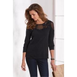 Women Drift T-Shirt by Soft Surroundings, in Black size 1X (18-20)
