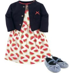 Hudson Baby Girls' Casual Dresses Watermelon - Blue & Red Watermelon Dress Set - Infant found on Bargain Bro Philippines from zulily.com for $18.99
