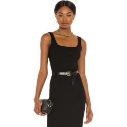 Mira Square Neck Crop Tank - Black - NSF Tops found on MODAPINS from lyst.com for USD $98.00