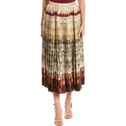 Valentino Pleated Wool & Silk-Blend Midi Skirt (38), Women's, Brown found on Bargain Bro Philippines from Overstock for $1053.35