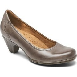 Rockport Women's Pumps GREY - Gray Adaline Round-Toe Leather Pump - Women found on Bargain Bro India from zulily.com for $59.99