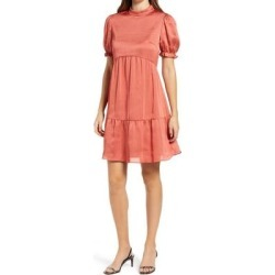 Satin Smock Minidress - Pink - Chi Chi London Dresses found on MODAPINS from lyst.com for USD $80.00