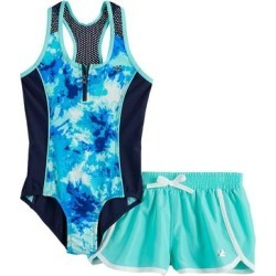 Girls 7-16 & Plus Size ZeroXposur Outburst 1-Piece & Cover Up Shorts Swimsuit Set, Girl's, Size: 12, Red found on Bargain Bro from Kohl's for USD $21.89