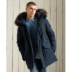 Premium Down Parka Coat - Blue - Superdry Coats found on Bargain Bro Philippines from lyst.com for $330.00