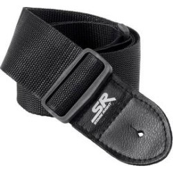 Monoprice Guitar Strap - 2 Inch - Black With Synthetic Leather Ends found on Bargain Bro Philippines from Overstock for $6.99