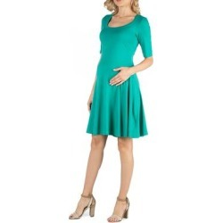 Knee Length A Line Elbow Sleeve Maternity Dress found on Bargain Bro Philippines from Overstock for $25.49