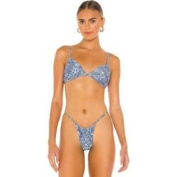 Francesca Shine Bikini Top - Blue - Frankie's Bikinis Beachwear found on Bargain Bro from lyst.com for USD $60.80