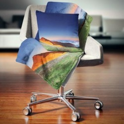 Designart 'Majestic and Colorful Sunrise' Landscape Photo Throw Blanket (71 in. x 59 in.), Blue, DESIGN ART found on Bargain Bro from Overstock for USD $40.37
