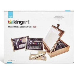 KINGARTTM Art Easels - 105-Pc. Mixed Media Easel Art Kit found on Bargain Bro India from zulily.com for $58.99