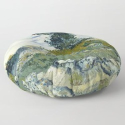 Floor Pillow   The Rocks by Vincent Van Gogh - ROUND - 30
