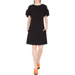 Layered Sleeve Dress - Black - Akris Punto Dresses found on MODAPINS from lyst.com for USD $995.00