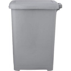 fedigorlocn Slim Pedal Trash Can 6.5 Gallon (26.5 QT) Soft Grey, Foot Step On Trash Can Durable Material Heavy Duty Bin For Home, Kitchen, Office found on Bargain Bro Philippines from Wayfair for $99.99