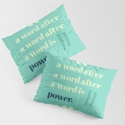 King Size Pillow Sham | A Word Is Power by Gas Station Burrito - STANDARD SET OF 2 - Cotton - Society6 found on Bargain Bro from Society6 for USD $30.39