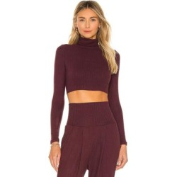 Bridget Crop Turtleneck Top - Purple - NSF Tops found on MODAPINS from lyst.com for USD $78.00