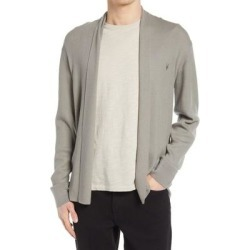 Mode Slim Fit Wool Cardigan - Gray - AllSaints Knitwear found on Bargain Bro from lyst.com for USD $60.04