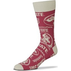 """""""For Bare Feet Florida State Seminoles Wall to Crew Socks"""""""