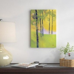 East Urban Home 'Simple Spruce' Print on Canvas Metal in Brown/Green/Yellow, Size 40.0 H x 26.0 W x 0.75 D in   Wayfair EAUB2915 38428340 found on Bargain Bro Philippines from Wayfair for $113.99