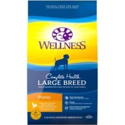 Wellness Large Breed Complete Health Puppy Chicken, Rice & Salmon Meal Dry Dog Food, 30-lb found on Bargain Bro from Chewy.com for USD $47.03