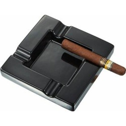 Visol Products Renner Ceramic Cigar Ashtray in Black, Size 2.0 H x 8.0 W x 8.0 D in | Wayfair VASH725Amaze found on Bargain Bro Philippines from Wayfair for $41.99