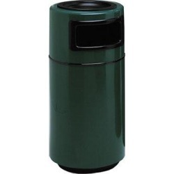Witt Side Entry Round Series Receptacle 25 Gallon Trash CanFiberglass in Brown, Size 38.0 H x 18.0 W x 18.0 D in   Wayfair 7C-1838TA-DC-11 found on Bargain Bro Philippines from Wayfair for $789.99