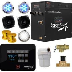 Steam Spa Black Series Bluetooth Quickstart Steam Bath 10.5 kW Generator Package in Yellow, Size 15.0 H x 17.0 W x 9.5 D in | Wayfair BKT1050GD-A found on Bargain Bro Philippines from Wayfair for $2833.14