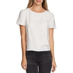 Vince Camuto Womens Top Embllished Split Side - New Ivory (XL), Women's(nylon) found on Bargain Bro India from Overstock for $22.79