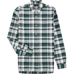 Lacoste Mens Oxford Plaid Regular Fit Button Up Shirt, Green, S (US)/3 (Lacoste) (Green - S (US)/3 (Lacoste)), Men's(cotton) found on MODAPINS from Overstock for USD $59.19